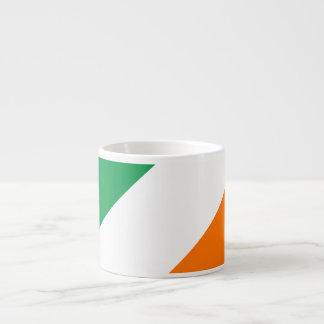 Green White Orange Stripes Espresso Cup