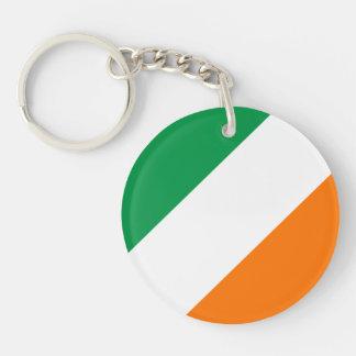 Green White Orange Stripes Acrylic Key Chain