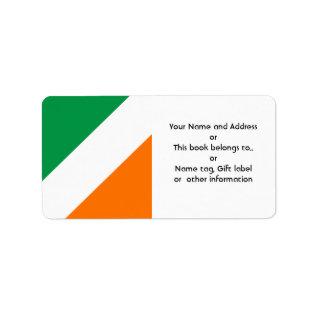 Green White Orange Stripes Label at Zazzle
