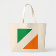 Green White Orange Stripes Large Tote Bag at Zazzle