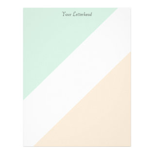 Green White Orange Stripes Letterhead at Zazzle