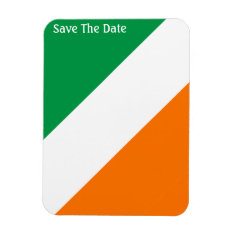Green White Orange Stripes Magnet at Zazzle