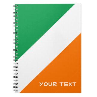 Green White Orange Stripes Notebook