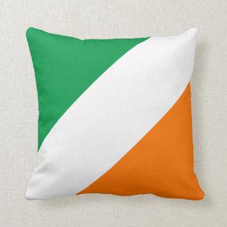 Green White Orange Stripes (S) Pillows