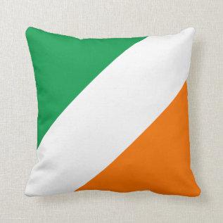 Green White Orange Stripes (s) Throw Pillow at Zazzle
