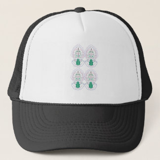 Green white Ornaments Trucker Hat