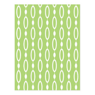 Green white pattern design postcard