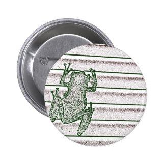 green white pink frog design amphibian design buttons