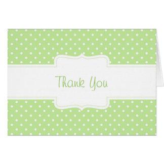 Green & White Polka Dot Custom Greeting Card
