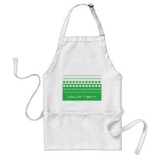Green White Polka Dot Modern Pattern Adult Apron
