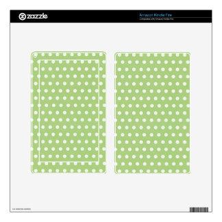 Green White Polka Dot Skins Skins For Kindle Fire