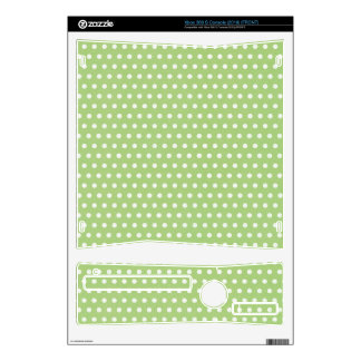 Green White Polka Dot Skins Xbox 360 S Console Decal