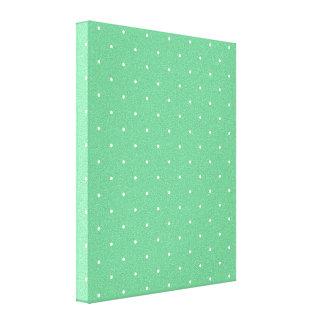 Green & White Polka Dots Canvas Print