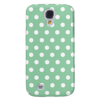 Green White Polka Dots Galaxy S4 Cover
