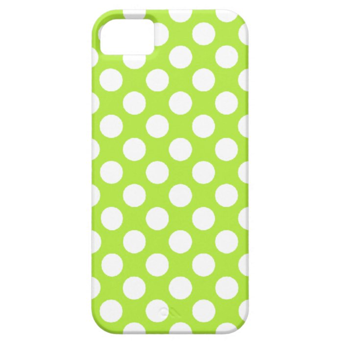Green White Polka Dots - iPhone 5 Cover