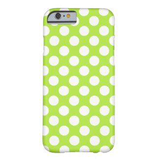 Green White Polka Dots - iPhone 6 case