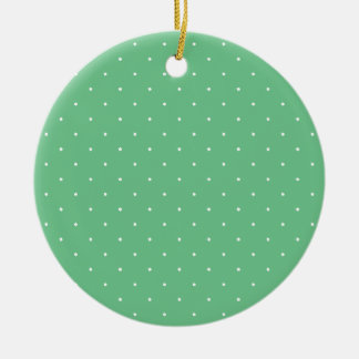 Green & White Polka Dots Ornaments