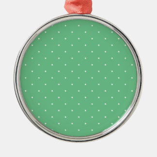 Green & White Polka Dots Ornament