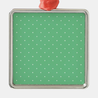 Green & White Polka Dots Christmas Tree Ornament