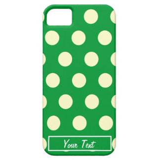 Green White Polka Dots - Personalize iPhone 5 Cases