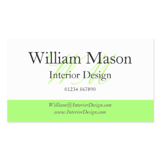 Green White Professional Business Card Business Cards