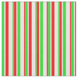 [ Thumbnail: Green, White, Red Colored Christmas-Inspired Fabric ]