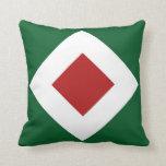 Green, White, Red Diamond Pattern Throw Pillows