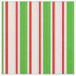 [ Thumbnail: Green, White, Red Striped/Lined Pattern Fabric ]