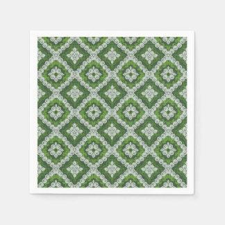 Green White Renaissance Swirl Napkins
