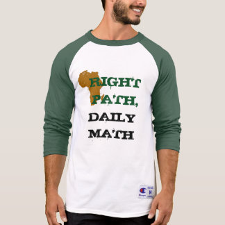 Green/White Right Path sports tee