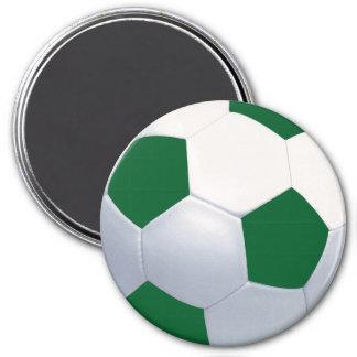 Green White Soccer Ball Magnet