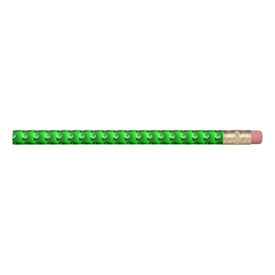 Green White Spiral Gradient Pencil