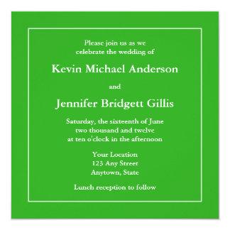 Green & White Square Invitations or Announcements