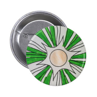 Green White Star Drawing, Art by Kids :) Button