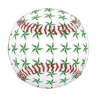 Green White Stars Baseball