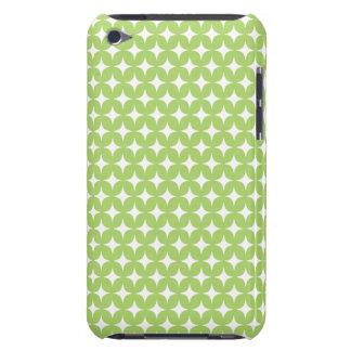 Green White Stars Diamond Monogram Pattern iPod Case-Mate Case