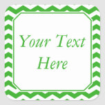 Green & White Stickers or Labels w/ Custom Text