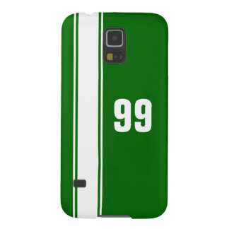 Green & White Stripe Jersey Numbered Samsung Case