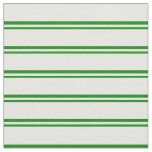 [ Thumbnail: Green & White Striped/Lined Pattern Fabric ]