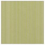 [ Thumbnail: Green & White Striped Pattern Fabric ]