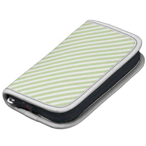 Green & White Striped Planner