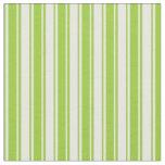 [ Thumbnail: Green & White Stripes Pattern Fabric ]