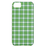 Green white tartan plaid cover for iPhone 5C