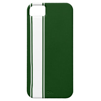Green & White Team Jersey Stripe iPhone 5s Case