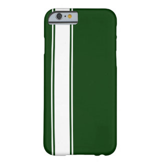 Green & White Team Jersey Stripe iPhone 6 Case
