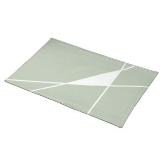 Green & White Triangle Design, Cotton Placemat