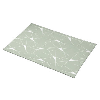 Green&White Triangle Pattern, Cotton Placemat
