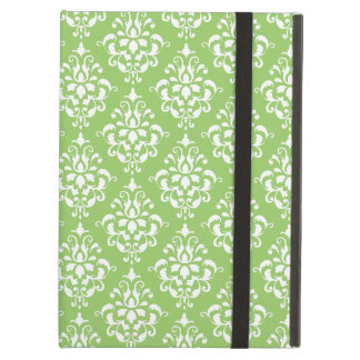Green White Vintage Damask Pattern 1 iPad Air Cover