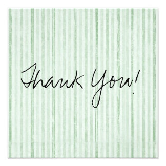 Green & White Vintage Flat Thank You Cards
