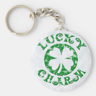 Green/White Vintage Lucky Charm Key Chain